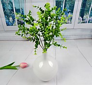 "Countryside Artificial Green Eucalyptus Leaves 2 Pieces/Lot Stem 12.6"" for Home Decoration"