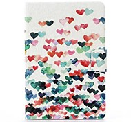 Many Colorful Hearts Pattern PU Leather  Full Body Case with Stand And Revolve for iPad mini 1/2/3