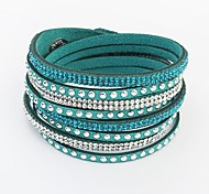 European Style Fashion Wild Long Leather Bracelet
