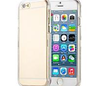 pc espalda cubierta transparente de cristal para el iphone 6