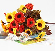 "11.1""L Set of 1 Natural 24 Heads Wild Chrysanthemum Silk Cloth Flowers(Assorted Colors)"