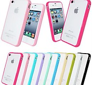Frosted Back TPU Bumper Case for iPhone 4/4S (Assorted Colors)