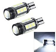Merdia T15 7W 180LM 16x5050SMD LED and 1 Condenser Lens White Light Reversing Lamp / Brake  Light (12V / Pair)