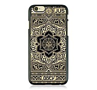Lotus Wall Leather Vein Pattern Hard Case for iPhone 6