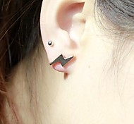 Earring Stud Earrings Jewelry Daily / Casual Alloy Gold / Black / Silver