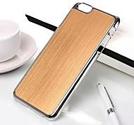 Electroplated Frame Brushed Aluminum Hard Case for iPhone 6 Plus