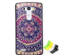 Painted Flowers Pattern PC Hard Case and Phone Holder for LG G3