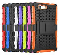 Solid Colour Style TPU Back Cover with Stand for Sony Z3 Compact Mini(Assorted Colors)