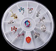 1 juego Gemas,Multicolor