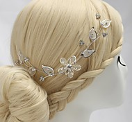 luxuosas flores feitas à mão de liga leve com strass casamento headpieces nupcial