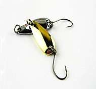Hot Sale New 2.5g 2.8cm Bait Metal Spoon Fishing Lures Random Color (10pcs)