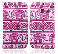 Pink Elephants Pattern PU Leather Full Body Cases with Stand for Samsung Galaxy Ace Style Lite G310