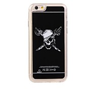 4.7 Inch Cool Skulls Pattern LED Color Changing Flash Light Protective Back Case for iPhone 6