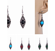 Stone Set Drop Earrings