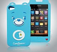 Care Bears silicone com estojo para iPhone 4 / 4S