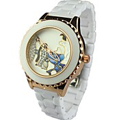Women's Fashion Penguin Pattern Round Dial Alloy Band Quartz Wrist Watch(Assorted Colors)