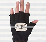 Gloves Inspired by Naruto Hatake Kakashi Anime Cosplay Accessories Gloves Black Wool Male