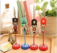London Soldiers Pattern Paper Clip Photo Clip(Random Color)
