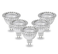5W GU5.3(MR16) LED Spot Lampen MR16 COB 400-450 lm Kühles Weiß AC 12 V 5 Stück