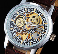 Men's Watch Auto-Mechanical Skeleton Hollow Engraving Wrist Watch Cool Watch Unique Watch Fashion Watch