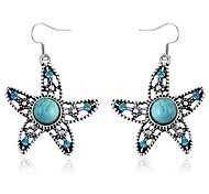 Little Cute Starfish Sapphire Earrings