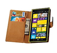 Genuine Leather Wallet Style Case for Nokia Lumia 1520 (Assorted Colors)