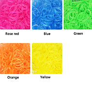 Eruner®600pcs Loom Bands Style Transparent Color Fashion Loom Rubber Band(1Package S Clip)