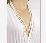 shixin® süße Perlenhalskette (weiß) (1 Stück)