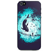 Fish And Child Pattern Hard Case for iPhone 5/5S