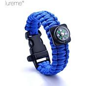 Lureme® Paracord Survival Escape To Whistle A Compass Cord Bracelet