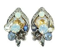 New Coming Unique Design Colorful Gemsotne Women Latest Stud Earrings