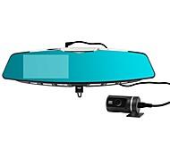 Daul lente de 4.3 pulgadas 140degree bluetooth ángulo wid 1080p full hd cámara espejo retrovisor del coche