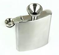 acciaio inox fiaschetta di liquore portatile - argento (10 once)