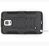 Pour Samsung Galaxy Note Antichoc / Avec Support Coque Coque Arrière Coque Armure Polycarbonate Samsung Note 4