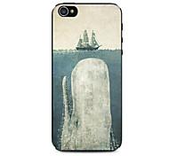 бросились кита образов жесткого случае судна для iPhone 5 / 5S