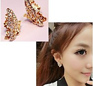 Full Diamond Butterfly Earrings