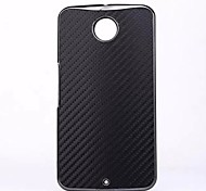 Super Slim Carbon Fiber Plastic Back Protective Case for Google Nexus 6 (Assorted Colors)