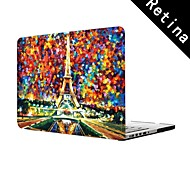 "Oil Painting The Eiffel Tower Design Full-Body Protective Plastic Case for 13""/15"" MacBook-Pro with Retina Display"