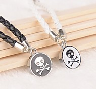 Z&X® Punk Skull Black And White PU Leather Couple Bracelets  (1 pair)