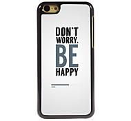 Don't Worry Design Aluminum Hard Case for iPhone 5C