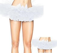 White Tulle Bouffant Tutu Women's Burlesque Party Dance Club Skirt