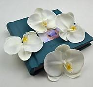 "flores decorativas pu flor cabeça orchis phalaenopsis artificial 6 peças / lote-tronco 1,97 """