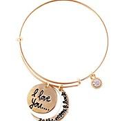 Moon Alphabetical Diamond Bracelet