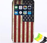 American Flag Pattern PU Leather Full Body Case Have A Perfume and Phone Holder for iPhone 6 Plus
