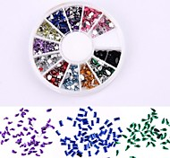 600PCS 12 Color Mix Of Special-Shaped Shining Diamond Nail Art Decoration