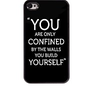 Only You Design Aluminum Hard Case for iPhone 4/4S