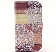 Man-eater Flower Pattern PU Leather Case with Stand for Samsung Galaxy S3 MINI I8190