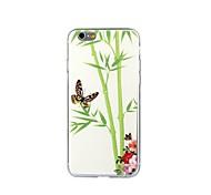 estuche blando pintura del estilo TPU de bambú chino para el iphone 6