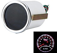 "2"" 52mm Car Auto Tacho Tachometer Gauge White LED Display Meter 0-10000 RPM Motor Guage"