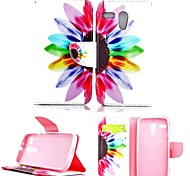 For Motorola Case Wallet / Card Holder / with Stand / Flip Case Full Body Case Flower Hard PU Leather Motorola